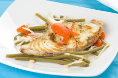 fasoli fillet ryba piec na grillu soje Zdjęcia Royalty Free