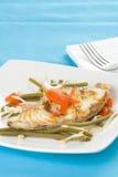 fasoli fillet ryba piec na grillu soje Obrazy Stock