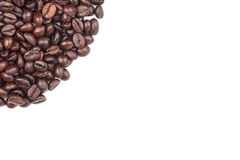 fasoli kawa białe tło Fotografia Stock