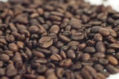 fasoli kawa kropi Obrazy Royalty Free