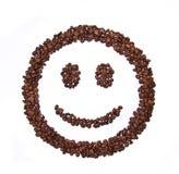fasoli kawa kształtujący uśmiech Obrazy Royalty Free
