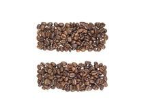fasoli kawa robić zapałczany symbol Obraz Royalty Free