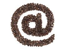 fasoli kawa zrobił symbolowi Zdjęcie Royalty Free