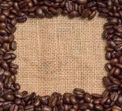 Fasoli kawowa granica Zdjęcie Royalty Free