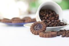 fasoli kawowa krakers filiżanka Obraz Royalty Free