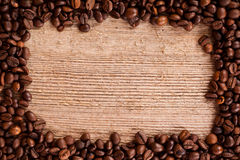 Fasoli kawowa rama Obrazy Royalty Free