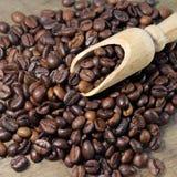 fasoli kawowy tekstury drewno obraz royalty free