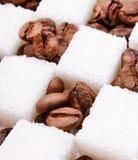 fasoli kawy cukier Obraz Stock