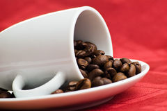fasoli kawy czerwień Obraz Royalty Free