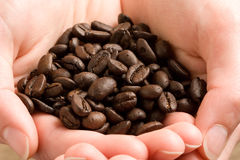 fasoli kawy garść Obraz Royalty Free
