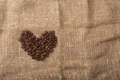 fasoli kawy serce Obrazy Royalty Free