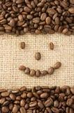 fasoli kawy worek Fotografia Stock