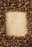 fasoli kawy worek Zdjęcie Royalty Free