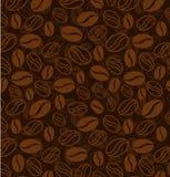 fasoli kawy wzór bezszwowy Fotografia Stock