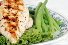 fasoli kurczaka zieleń piec na grillu sałaty macro Zdjęcie Royalty Free