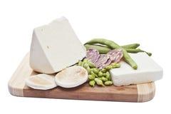 fasoli sera kiełbasa Zdjęcia Royalty Free