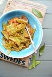 Fasolki szparagowe w pomidorowym kumberlandzie Obrazy Royalty Free