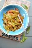 Fasolki szparagowe w pomidorowym kumberlandzie Obraz Royalty Free
