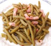 Fasolki szparagowe z bekonem Zdjęcia Stock