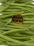 Fasolki szparagowe z złotym medalem Fotografia Stock