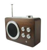 fasonujący odosobniony stary radiowego odbiorcy biel Obrazy Stock