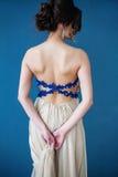 Fasonuje fotografię piękna dama w eleganckiej wieczór sukni Obraz Royalty Free