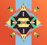 Fasonuje meksykanina, navajo lub aztec, rodowitego amerykanina wzór ilustracja wektor