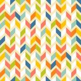 Fasonuje zygzakowatego wzór w retro kolorach, bezszwowych ilustracja wektor