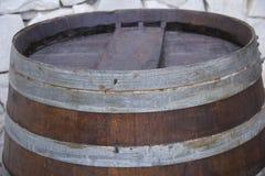 Fass-Spitzenabschluß der Eiche rustikaler oben Lizenzfreie Stockfotografie