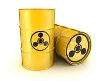Fass und die chemischen Waffen des Zeichens Lizenzfreie Stockfotografie