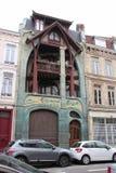 Fassade - Coilliot haus- Lille - Frankreich Stockfotografie