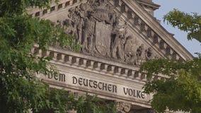 Fassade de Berlin German Parliament Reichstag almacen de video