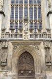 Fassade der Abtei, Bad Stockfoto