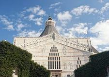 Fassade der Basilika der Ankündigung, Nazaret, Israel stockbild