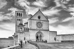 Fassade der Basilika des Heiligen Franziskus von Assisi, Italien Stockfotografie