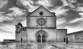 Fassade der Basilika des Heiligen Franziskus von Assisi, Italien Lizenzfreie Stockbilder