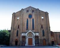 Fassade der Basilika von San Francesco, Bologna, Italien stockbilder