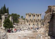 Fassade der Bibliothek von Celsus, Ephesus Stockbilder