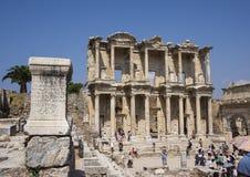 Fassade der Bibliothek von Celsus, Ephesus Stockfoto