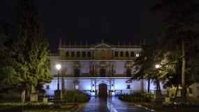 Fassade der Cisneriana-Universität von Alcala de Henares, Spanien Lizenzfreies Stockbild