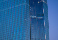 Fassade der Europäische Zentralbank-Hauptsitze in Frankfurt lizenzfreies stockfoto