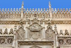 Fassade der königlichen Kapelle von Granada Stockbilder