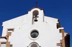 Fassade der Kapelle von Mare de Deu del Socors Stockbild
