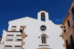 Fassade der Kapelle von Mare de Deu del Socors Lizenzfreies Stockfoto