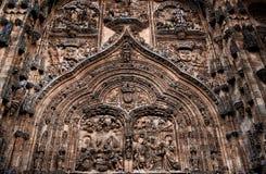 Fassade der Kathedrale Salamanca Stockfotografie