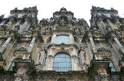 Fassade der Kathedrale von Santiago de Compostela Stockbild