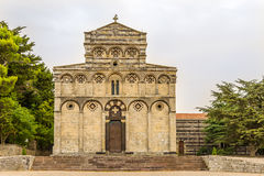 Fassade der Kirche San Pietro di Sorres in Borutta Lizenzfreies Stockbild