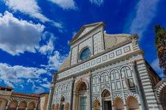 Fassade der Kirche von Santa Maria Novella im historischen Cent lizenzfreies stockfoto