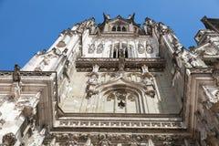 Fassade der Regensburg-Kathedrale deutschland Stockbilder