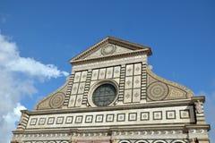 Fassade der Santa- Marianovelle, Florenz, Italien Stockfotos
